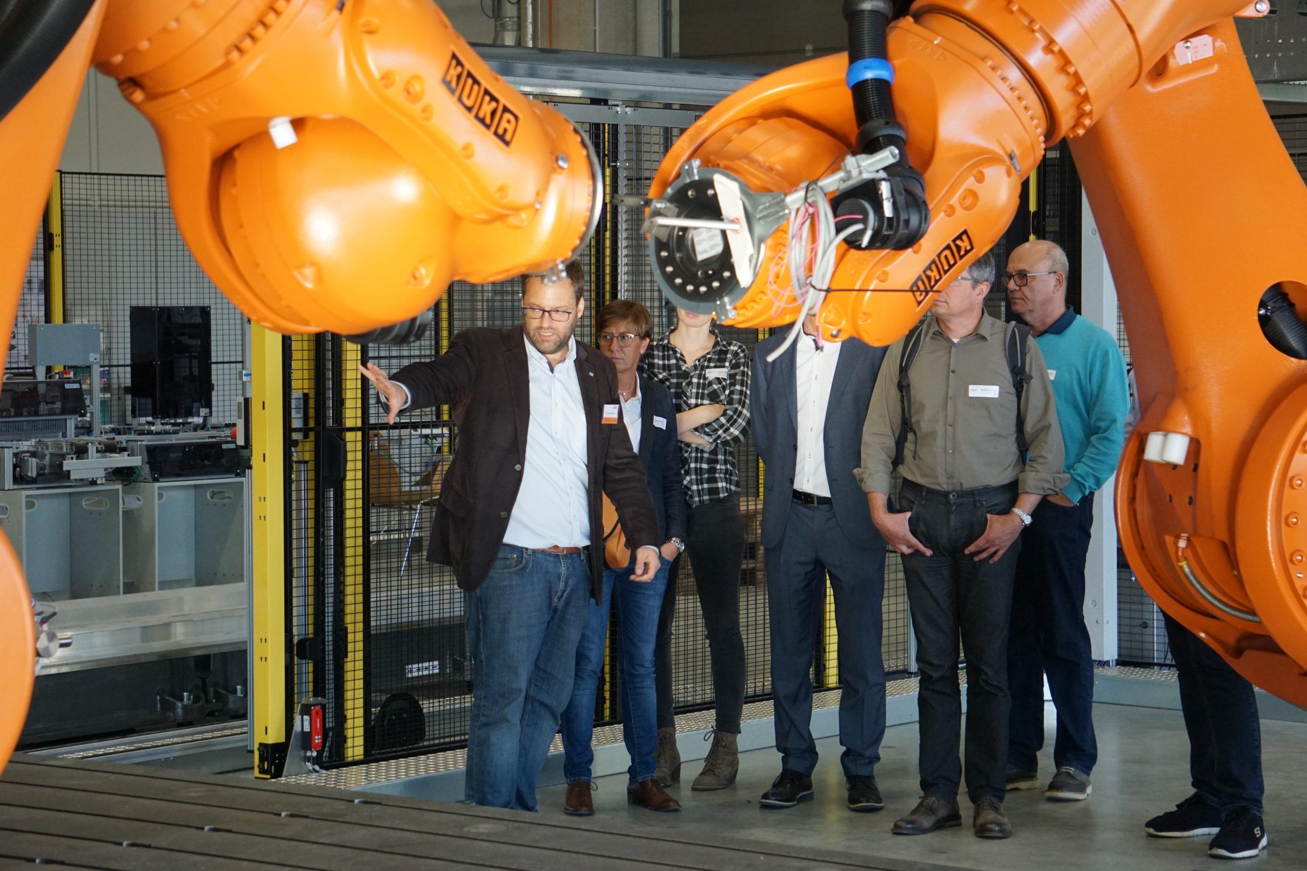 Robotik-Forschung beim Transfertag in Augsburg