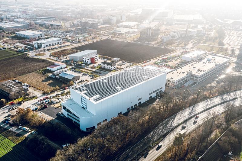 Luftaufnahme von der Baustelle im Dezember 2019