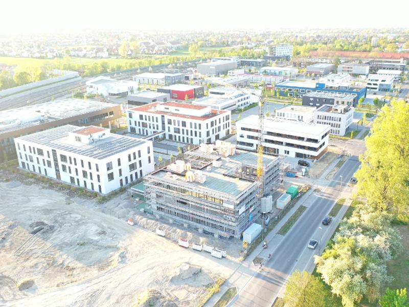 Neues Gebäude entsteht im Sheridanpark Augsburg