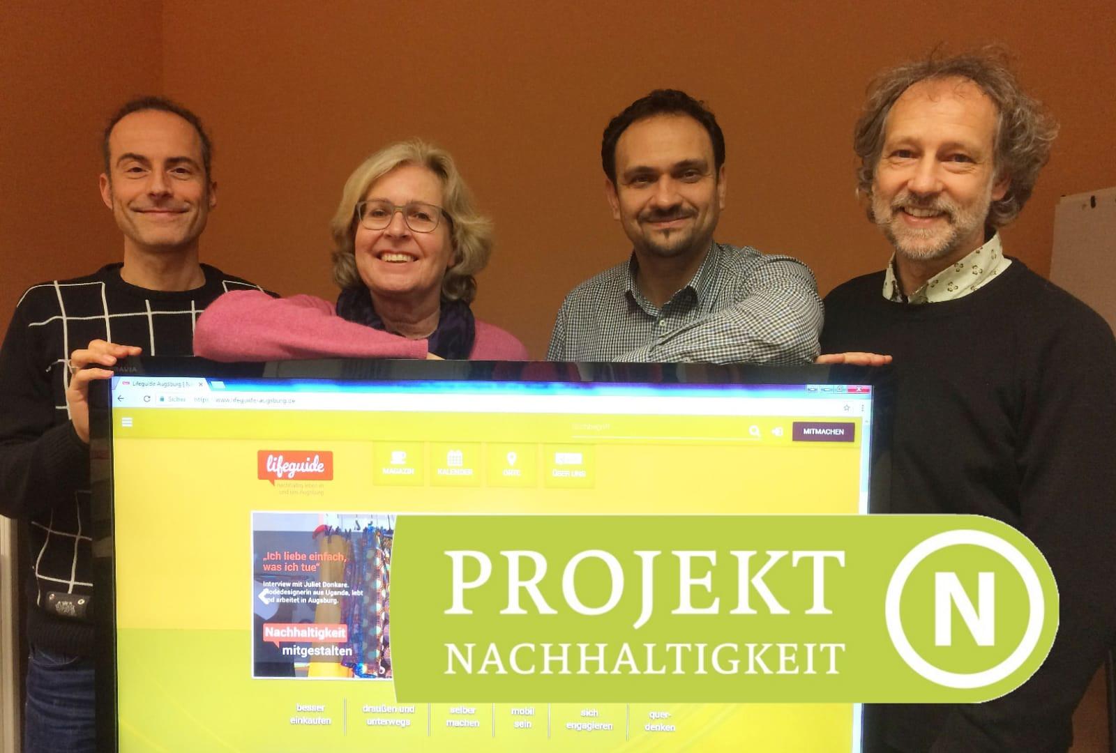 Der Vorstand des Lifeguide Augsburg: Torsten Mertz, Cynthia Matuszewski, Manfred Agnethler, Dr. Norbert Stamm