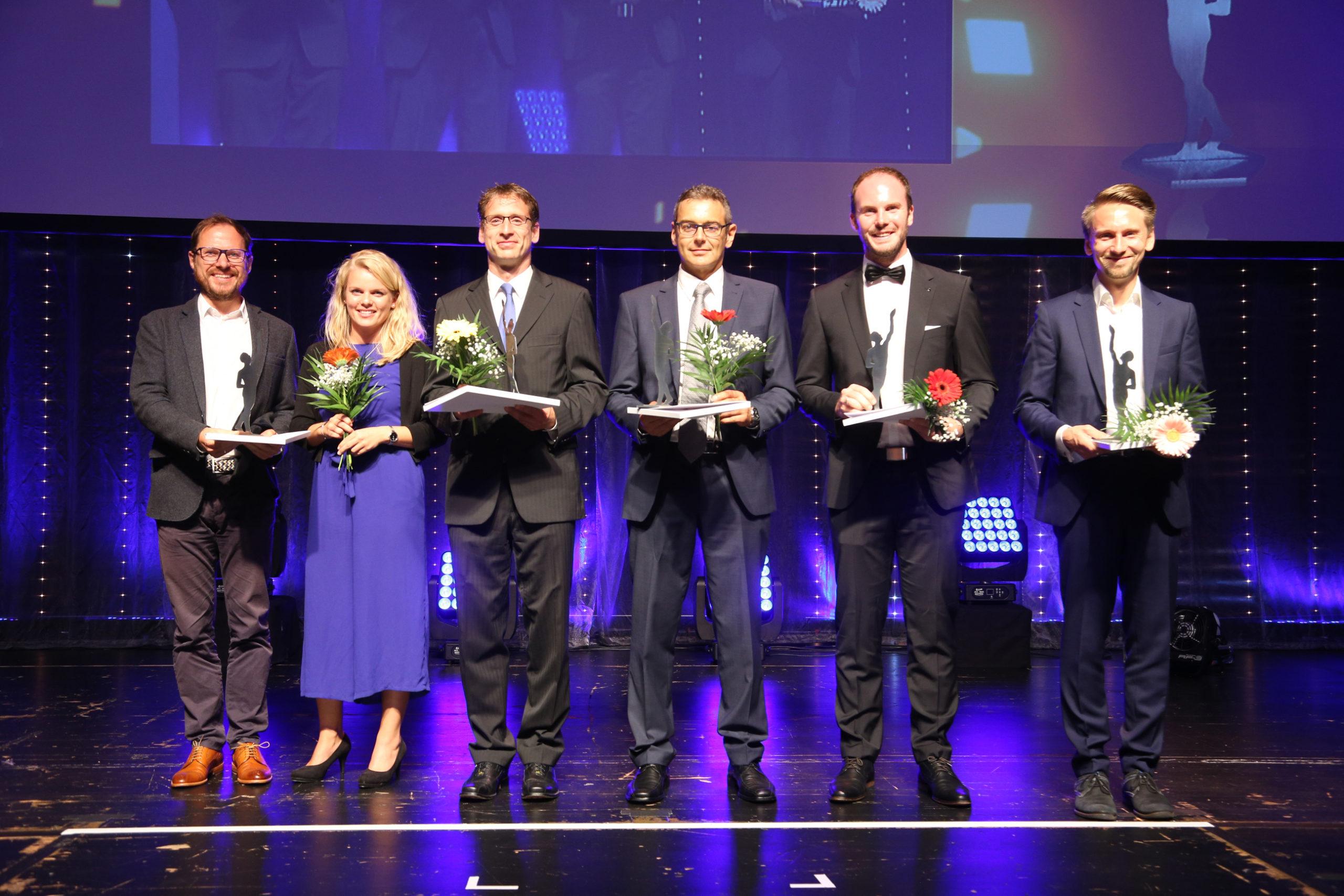 Die Finalisten Michael Knöferle, Leiter Vertrieb u. Marketing bei BMK, hier 3.v.l.