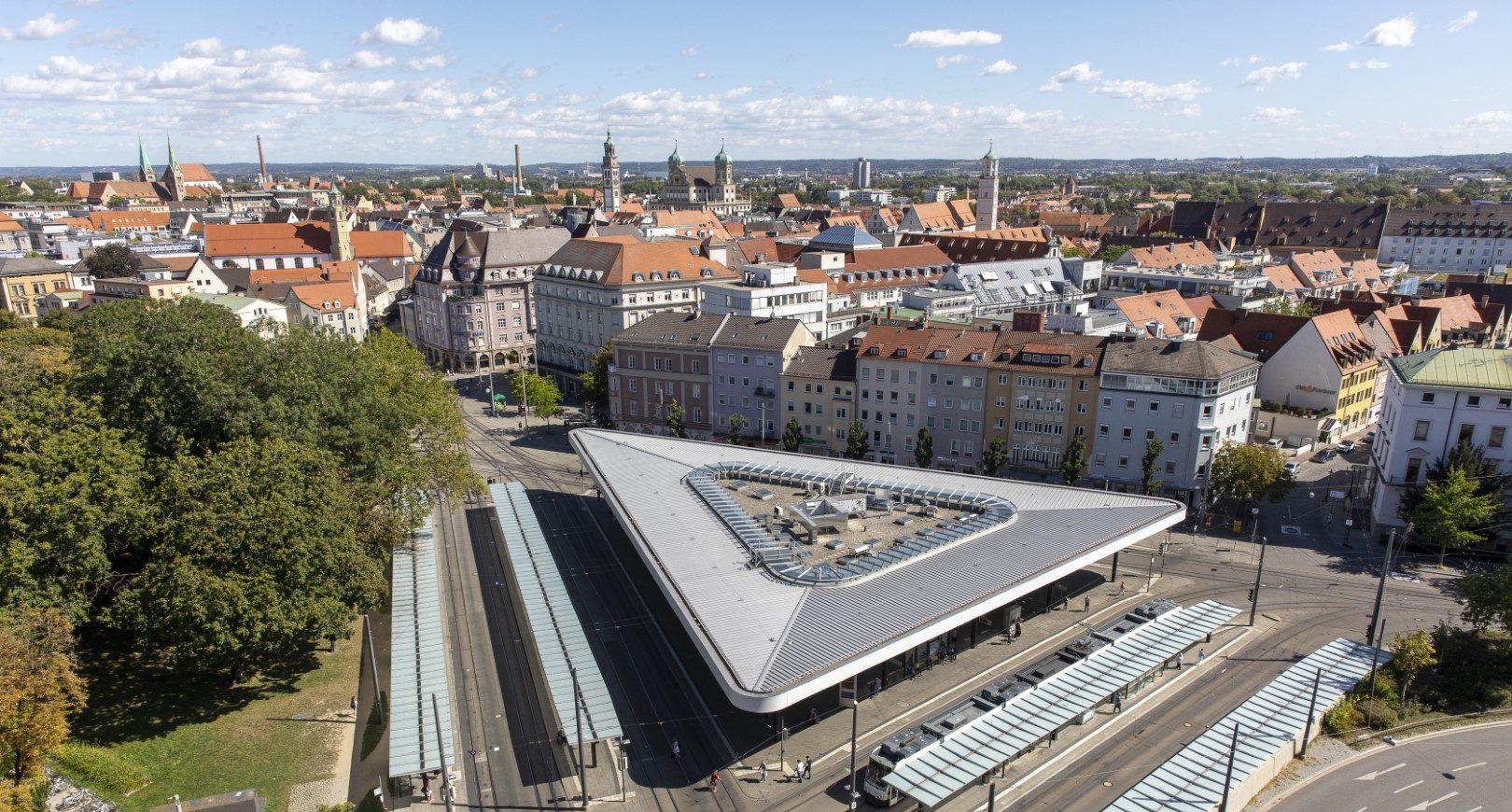 Blick über die Augsburger Innenstadt
