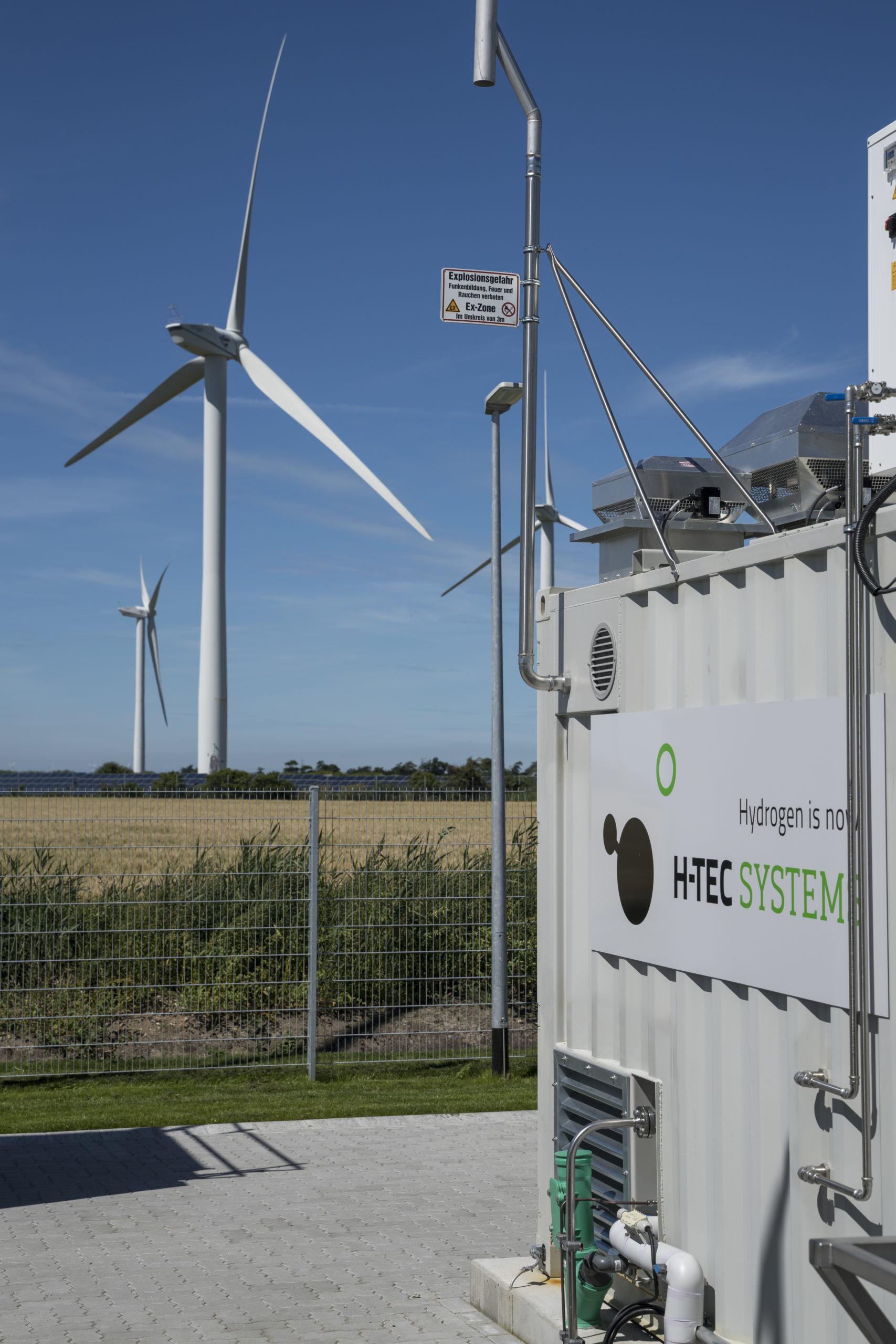 Wasserstoff-Mobilitätsprojekt in Windparks