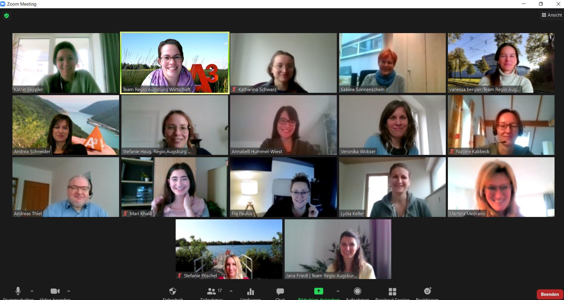 Anfang März traf sich das A³ Team in digitaler Form.