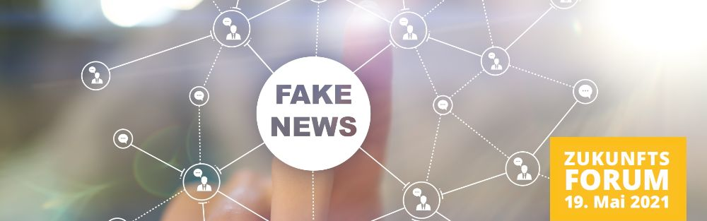 Fake news warning on the virtual screen