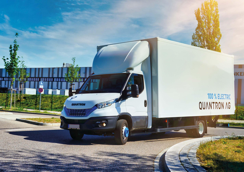 e-Transporter der Quantron AG im Einsatz