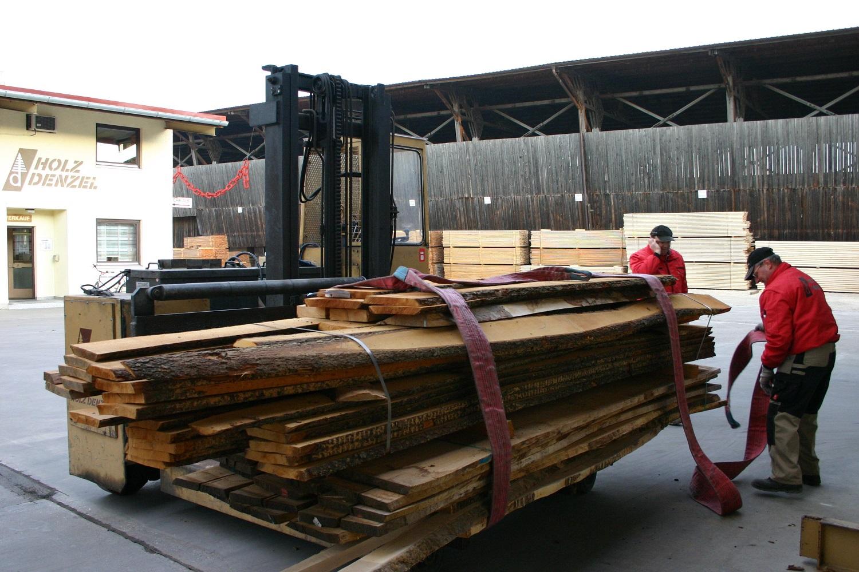 Verladung Holz