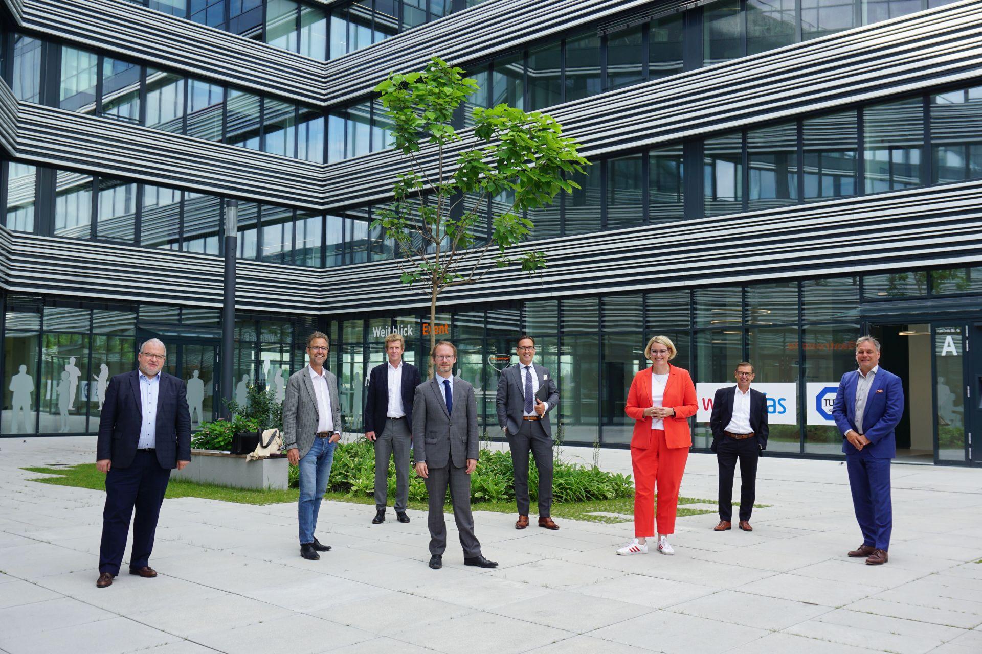 Austauschtreffen zwischen der Augsburger Stadtspitze und Vertretern der regionalen Immobilienbranche im Weitblick 1.7