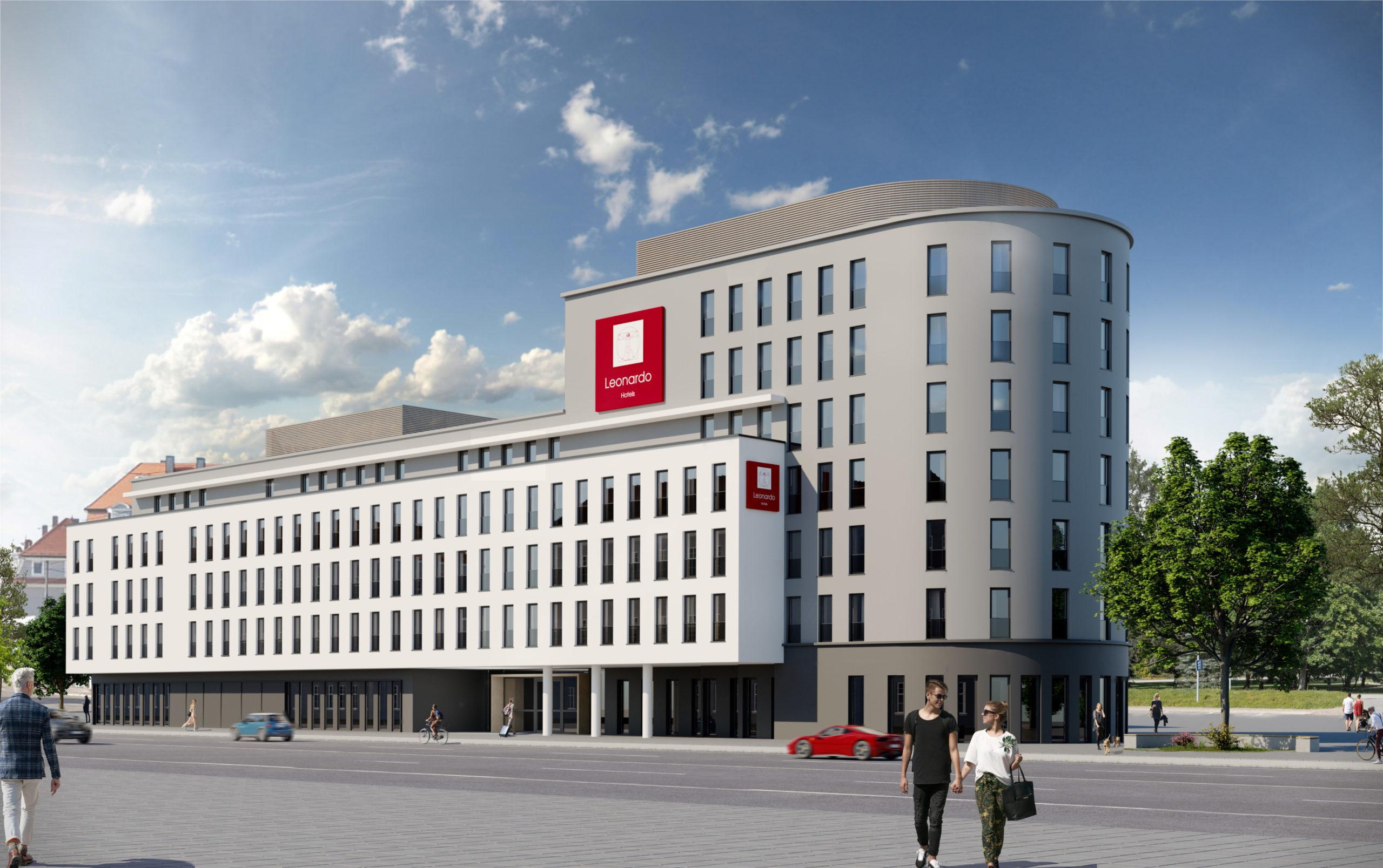 Das neue Leonardo Hotel wird im Stadtjägerviertel eröffnet.